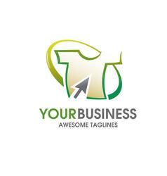 t-shirt online store logo vector image