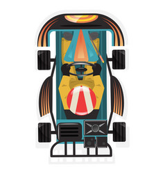 top view kart racer isolated icon vector image