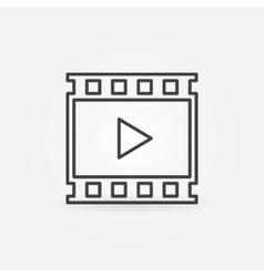 Video linear icon vector