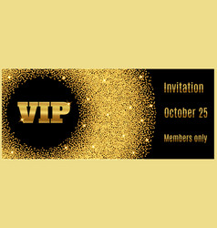 vip club party premium invitation card poster flye vector image vector image