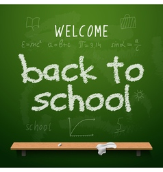 Back to school chalkboard design lettering vector