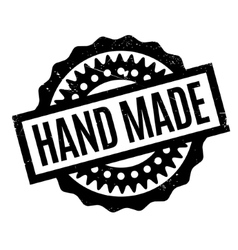 Hand Made rubber stamp vector image
