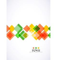 Colorful square geometrical background vector image