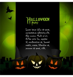 Halloween background with sample text vector image
