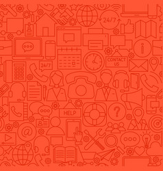 Contact red line tile pattern vector