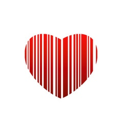Valentine bar code vector
