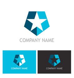 star shape shield logo vector image