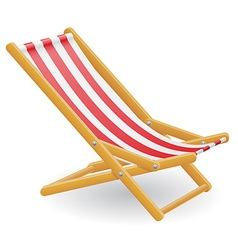 Beach chair 01 vector