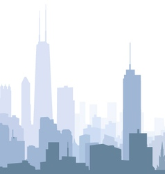 Chicago morning skyline vector