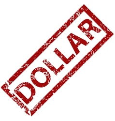 Dollar rubber stamp vector