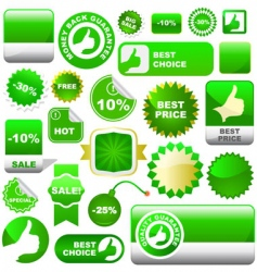 Set of sale elements vector