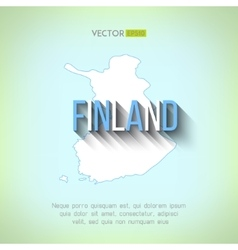 Finland map in flat design finnish border vector