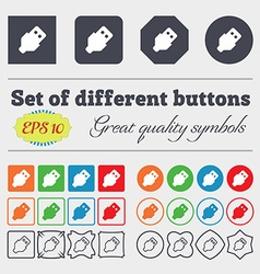 Usb icon sign big set of colorful diverse vector