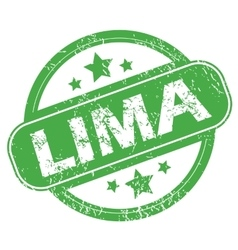 Lima green stamp vector