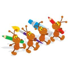 Ants artists vector