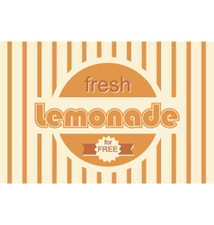 Retro lemonade background design vector