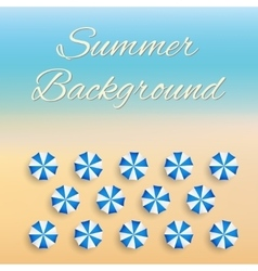 Beach background with sun umbrellas vector
