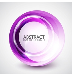 Abstract swirl sphere background vector image