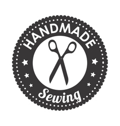 Sewing scissors isolated icon design vector
