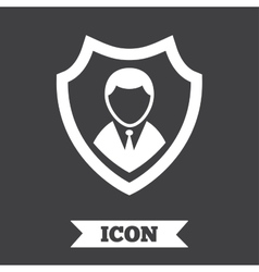 Security agency icon shield protection symbol vector