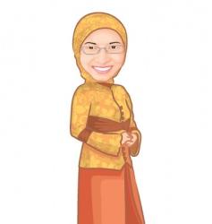 muslim girl vector image