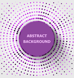Abstract background with purple circles halftone vector