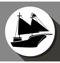 Antique sail boat vector