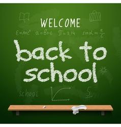 Back to school chalkboard design lettering vector
