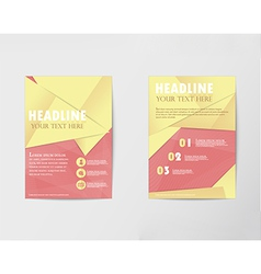 Brochure design layout template in a4 with gold pa vector