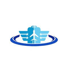 Business logo design avion transportation vector