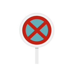 Clearway sign icon flat style vector