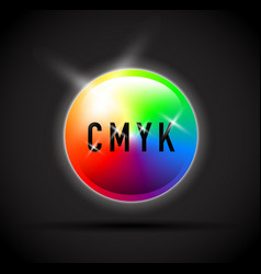 cmyk round colour selector vector image