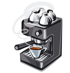 coffee machine2 vector image vector image