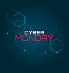 cyber monday abstraction vector image