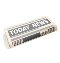Folded newspaper icon presenting the news vector