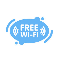 Free wi-fi zone sign in abstract line blue vector