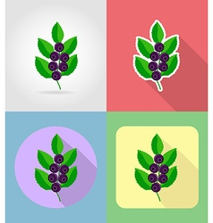 Fruits flat icons 16 vector