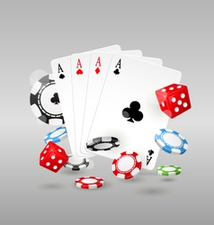 Gambling and casino symbols - poker chips vector