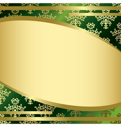 green vintage background with decorations vector image vector image