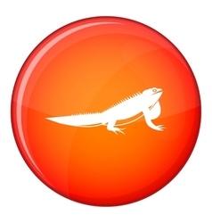 Iguana icon flat style vector