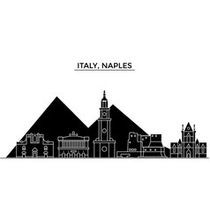 Italy naples architecture city skyline vector