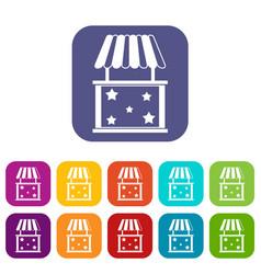 kiosk icons set vector image