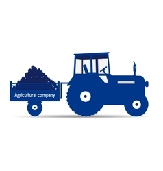 Logo tractor agricultural company vector