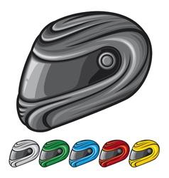 motorcycle helmet vector image vector image