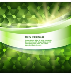 new product label green glowing background vector image vector image