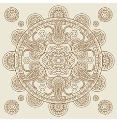 Oriental indian paisley boho mehendi mandala vector