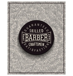 Poster design for barbershop vector