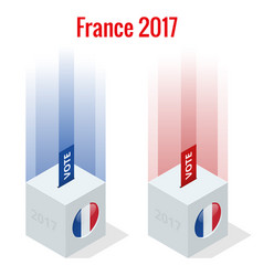 presidential election in france 2017 ballot box vector image vector image
