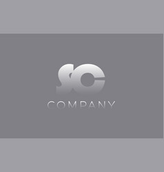 Sc s c pastel blue letter combination logo icon vector