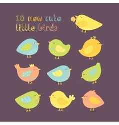 simple minimal set of lovely cartoon cute vector image vector image